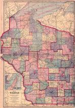 Wisconsin State Map, Jackson County 1914